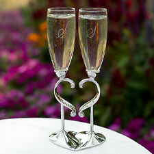 Linked Love Personalized Wedding Toasting Flutes (20771)