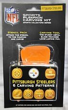Pittsburgh Steelers Halloween Pumpkin Carving Kit New Stencils for Jack-o-latern