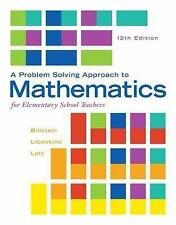 A Problem Solving Approach to Mathematics for Elementary School Teachers by...