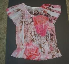 NWOT Cato floral polyester blouse top size 18-20W