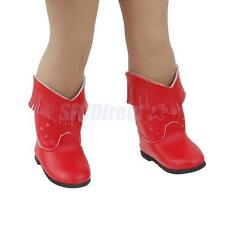 """Fashion Red PU Tassel Boots Shoes for 18"""" American Girl Doll Clothes Gifts"""