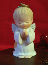 Enesco Ruth Morehead Holly Babes 1987 Angel Boy Praying Ornament