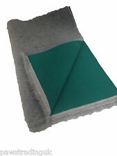 Grey Green back Vet Drybed Dog Bed Fleece Bedding ideal for puppies whelping dog