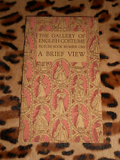 The gallery of english costume - Picture book number one : A brief view - 1949