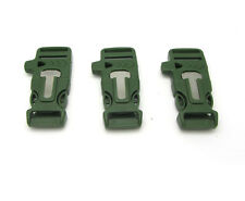 1pcs Buckle with Whistle Flint Fire Starter Scaper for Paracord Bracelet army gr