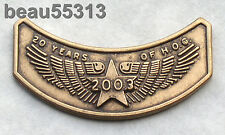 HARLEY OWNERS GROUP HOG 100th 20th ROCKER 2003 VEST JACKET HAT PIN 03
