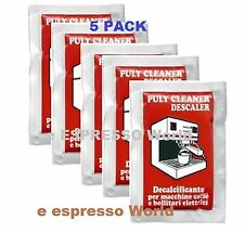 PULY BABY DESCALER FOR DOMESTIC ESPRESSO COFFEE MACHINE 5 SACHETS  OF 30 GR
