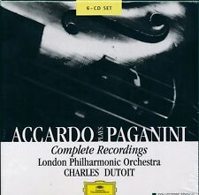 Accardo Plays Paganini Complete Recordings CD NEW Charles Dutoit
