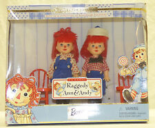 Vtg Barbie Collectibles Kelly & Tommy as Raggedy Ann & Andy Dolls Gift Set w COA