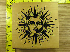 Rubber Stamp PSX Large Sun Face K1781 Celestial Stampinsisters #3998