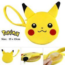 Bolsillo Monster Pokemon Pikachu Lovely Plush Monedero Regalo para Girl Friend