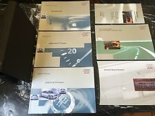 2000 AUDI TT COUPE OWNERS MANUAL BOOK SET, complete owner's PACKAGE AND CASE