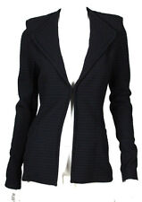 GIVENCHY $2,140 NWT Black Virgin Wool Striped Knit Jacket S