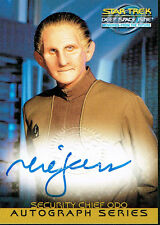 STAR TREK DS9 MEMORIES FROM THE FUTURE AUTOGRAPH CARD A5 RENE AUBERJONOIS, ODO