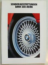 Prospekt BMW 3er Reihe E 36 Sonderausstattungen, 1.1992, 22 Seiten