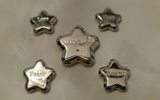 Make A Wish Stars Cute paper weights silver jewelry lot of 5
