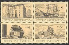 USA 1971 Cable Car/Rail/Sailing Ship/Transport/Trams/Buildings 4v blk (n24271)