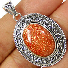 BRSP88 BROWN SUN STAR 925 STERLING SILVER PENDANT JEWELRY