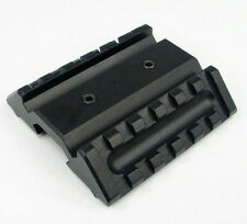 Dual 45 Degree Offset Mount Picatinny Rail For Laser Scope Sight Flashlight Y01