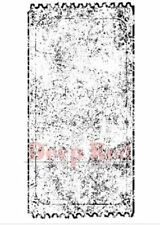 Deep Red Rubber Cling Stamp Vintage Style Grunge Movie Ticket