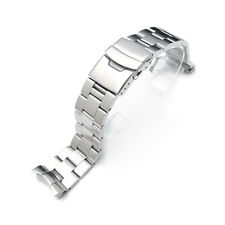 22mm Brushed Oyster Solid Link 316L Stainless Steel Bracelet for SKX skx007