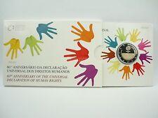 *** 2 Euro Gedenkmünze PORTUGAL 2008 Menschenrechte PP Polierte Platte Münze KMS