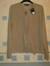 NEW  LADIES  CARDIGAN SIZE 14 BEIGE *DEBENHAMS*