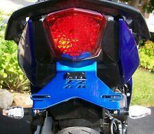Yamaha 2009-16 FZ6R / XJ6 Fender Eliminator Tail Tidy Plate Bracket FZ-6R - Blue