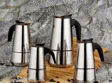 New 4 Cup High Quality Stainless Steel Espresso Coffee Maker Coffee Pot