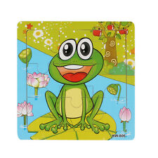 Frog Wooden Kids Children Jigsaw Education And Learning Puzzles Toys NICE Gifts