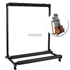 5 Guitar Folding Rack Electric Acoustic Bass Stand Holder Storage Organizer