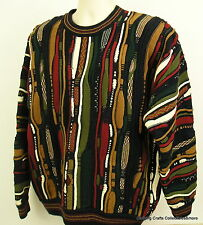 Mens Cotton Traders Sweater Sz Medium Colorful Ugly Christmas Party