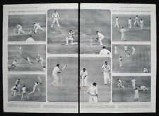 ASHES FIFTH TEST MATCH OVAL ENGLAND AUSTRALIA CRICKET 2pp PHOTO ARTICLE 1953
