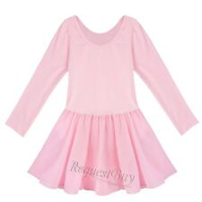Girls Leotard Ballet Tutu Dress Ballerina Fairy Swan Costumes Dancewear 2-12Y