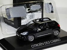 CITROEN DS3 CABRIO 2013 BLACK WITH HARD TOP NOREV 155287 1/43