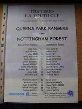 16/03/1999 Queens Park Rangers Youth v Nottingham Forest Youth [FA Youth Cup] (c