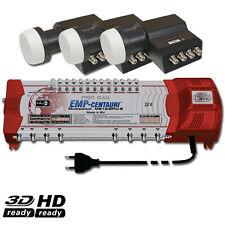 ►SAT Miltischalter 13/8 EMP CENTAURI Profi Line + 3x Inverto Quattro LNB HDTV
