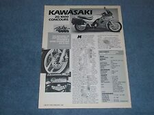 "1987 Kawasaki ZG1000 Concours Vintage Info Article ""The Mercedes of Motorcycles-"