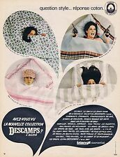 PUBLICITE ADVERTISING 045 1966 DESCAMPS l'Ainé les draps