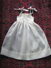 ROBE d'ENFANT ancienne PLUMETIS beige brodée SMOCKS VINTAGE an. 60 PARTY DRESS