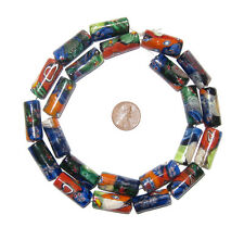 Glass Millefiori Beads (Rectangular)