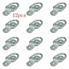 12x Lashing Ring & Staple Cleat Tie Down Trailers Vans Trucks Horsebox Boat Rope
