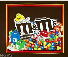 NEW LARGE M & M M&M's CANDY COTTON PANEL FOR QUILTS HOME DECOR & OTHER PROJECTS