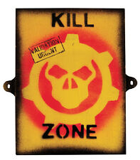 NEW WOODEN PLYWOOD KILL ZONE NOVELTY ARMY KIDS ROOM DOOR SIGN 230mm X 280mm