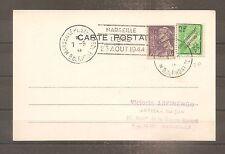 POSTCARD FRANCE FRANKREICH LIBERATION MARSEILLE CACHET DU 07/09/1944 FFI 2GM WW2