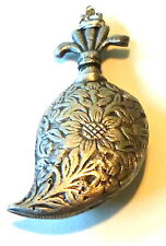 RARE ANTIQUE PENDANT SS SILVER PERFUME OIL BOTTLE VIAL FRENCH COLONIAL AFRICA