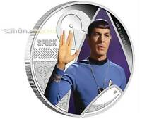 1 $ Dollar Star Trek Enterprise Mr. Spock Tuvalu 1 oz Silber 2015
