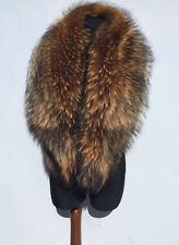 Norvegian Raccoon Fur Collar. 47' Inches Length. TOP Quality Real Genuine Fur.