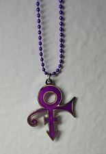 Prince Roger Nelson Symbol Necklace Stainless Steel Purple & Silver Pendant