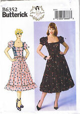 Easy Square Neck Zip Front Dirndl Dress Sewing Patterns by Gertie 14 16 18 20 22